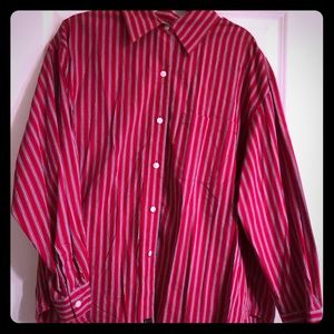 Company by Ellen Tracy 100% cotton striped shirt